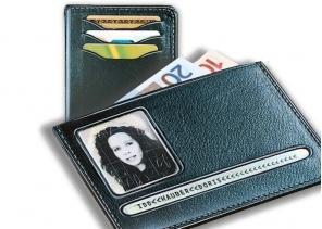 Mini-Brieftasche aus Leder