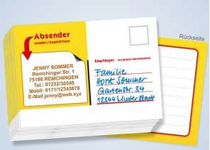 Namens-Postkarten