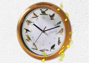 Vogelstimmen Wand-Uhr