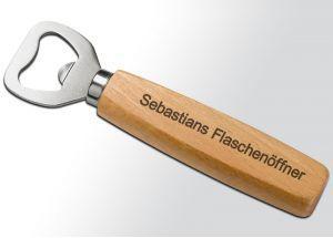 Flaschenöffner Buchenholz