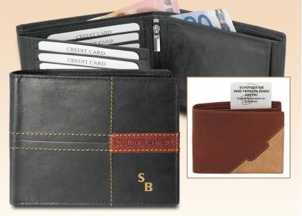 RFID Geldbörse schwarz