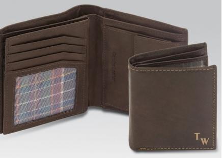 RFID Leder-Geldbörse braun