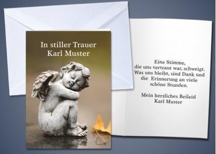 """20 Trauer-Klappkarten """"Engel"""""""