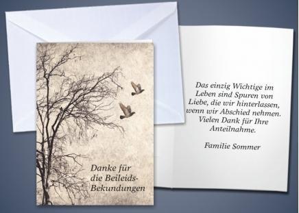 """20 Trauer-Klappkarten """"Baum"""""""