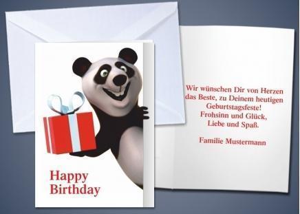 """20 Motiv-Klappkarten """"Panda"""""""