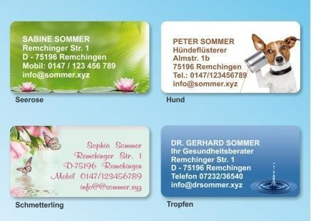 168 Adressaufkleber MAXI-Motiv Schmetterling