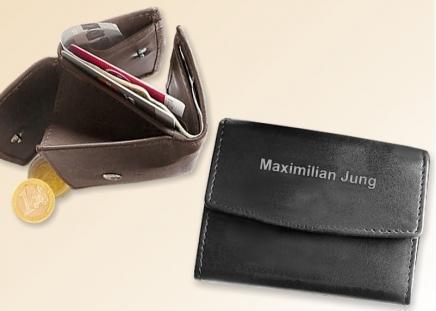 Mini-Geldbörse Braun