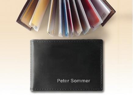 Ausweis- und Kreditkarten-Etui Schwarz