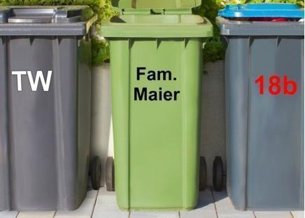 Mülltonnen-Aufkleber