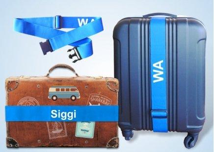 Koffergurt mit Namen