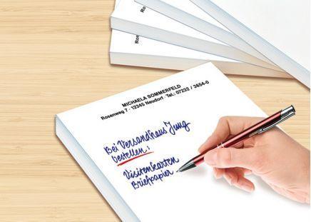 Schreibblöcke mit Namen DIN A5 / 5 Stück