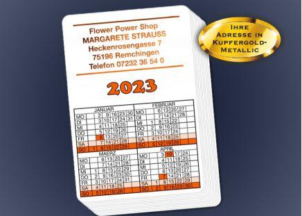 Spielkarten-Kalender 2020 50 Stück