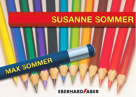 Namens-Stifte Komplett-Set Farb- und Bleistifte