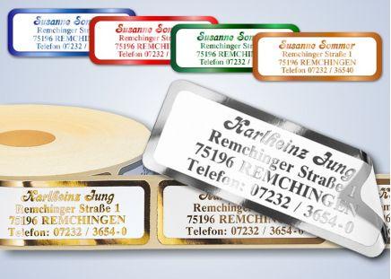 500 Adressaufkleber SUPER de-Luxe Silber-metallic