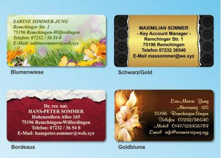 168 Adressaufkleber MAXI-Motiv Schwarz/Gold