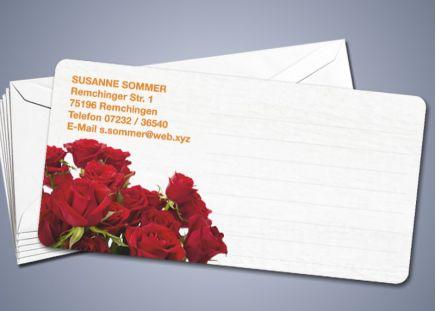 """50 Briefkarten """"Rote Rosen"""""""