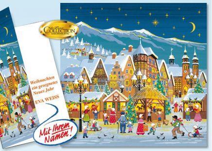 """Weihnachtskarte """"Marktplatz"""" 20 Stück"""