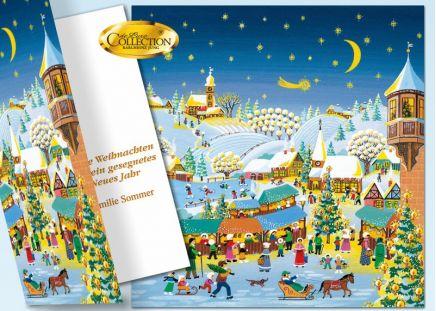 Weihnachtskarte de-Luxe NEU 20 Stück