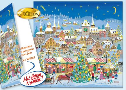 """Weihnachtskarte """"Dorfsee"""""""