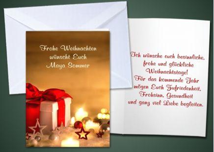 """20 Weihnachts-Klappkarten """"Kerzen"""""""