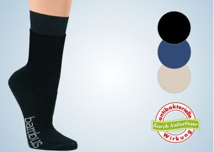 Superweiche Socken 3-er Pack schwarz|Gr. 39-42