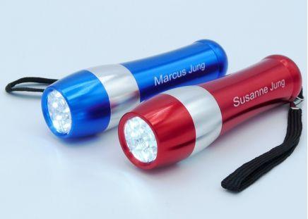 LED-Taschenlampe Blau-Metallic