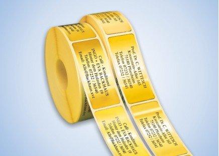 500 Adressaufkleber Goldfolie