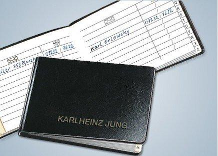 Taschen-Adressbüchlein, echt Leder