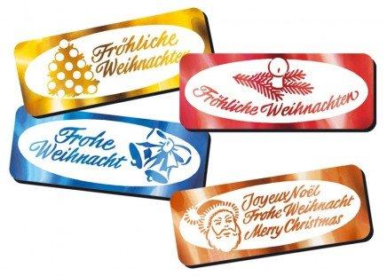 Weihnachtsgrüße de-Luxe 4 x 25 Etiketten