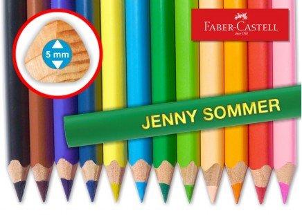 Jumbo-Stifte mit Namen 12 Farbstifte