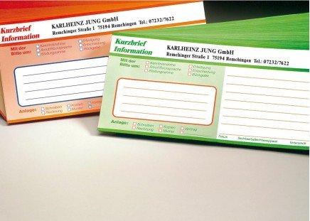Kurzbriefe 250 Stück|orange-grün