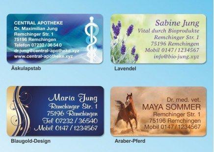 168 Adressaufkleber MAXI-Motiv Lavendel