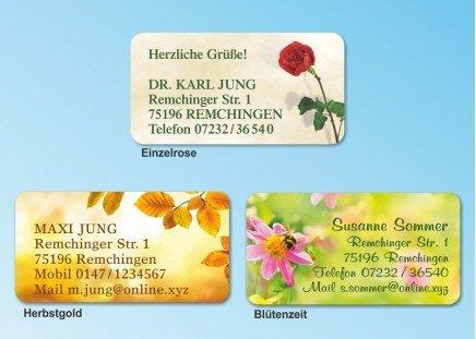 168 Adressaufkleber MAXI-Motiv Blütenzeit