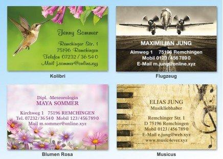 100 Motiv Visitenkarten