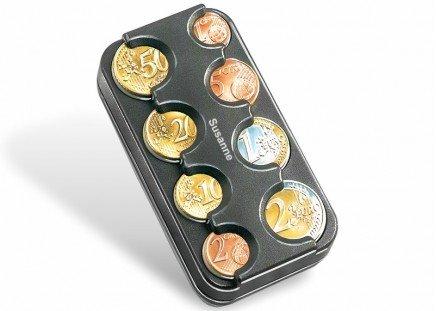 Euro-Münz-Box, schwarz