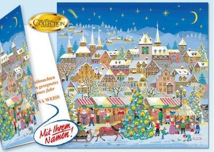 """Weihnachtskarte """"Dorfsee"""" 20 Stück"""