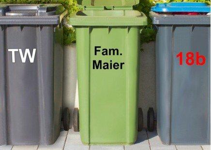 Mülltonnen-Aufkleber Schwarz