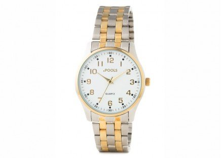 Herren-Armbanduhr Bicolor