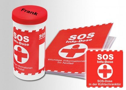 SOS-Info-Dose mit Namen