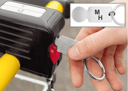 Einkaufswagen-Chip mit Monogramm
