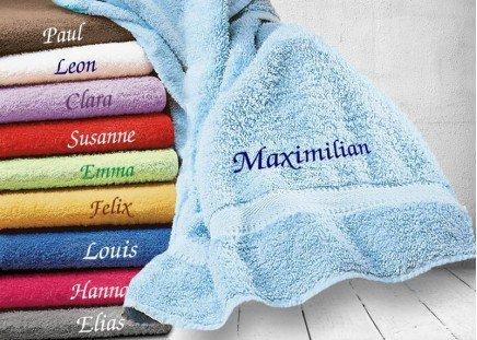 Frottier-Tuch mit Namen Handtuch, dunkelblau