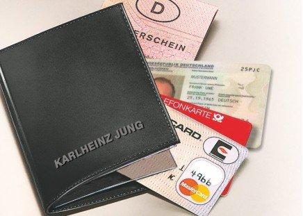 Ausweis-Hülle Schwarz
