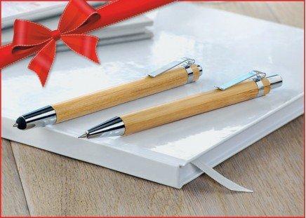 GRATIS-Zugabe: Bambus-Schreibset
