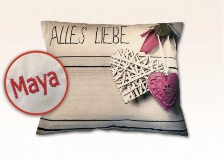 "Zirbenholz-Kissen ""Liebe"""