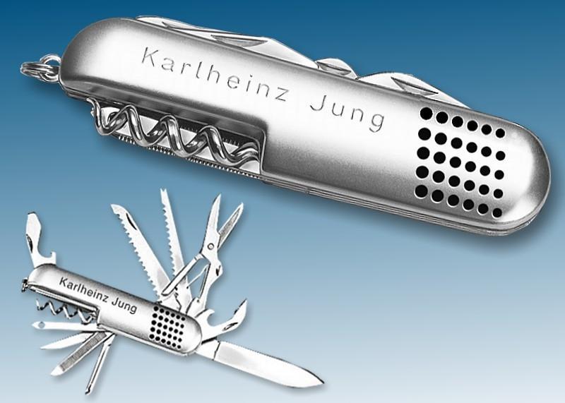 Werkzeugmesser aus Edelstahl, 11-teilig