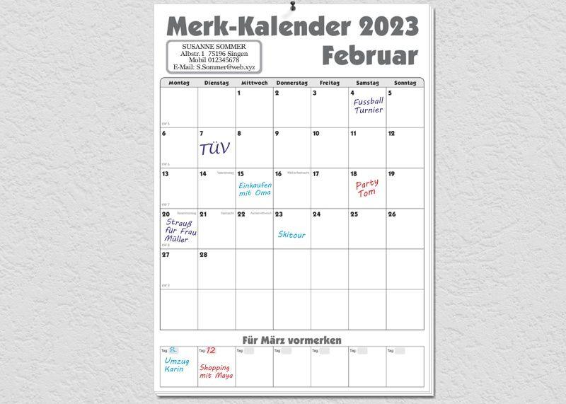 Merk-Kalender 2019
