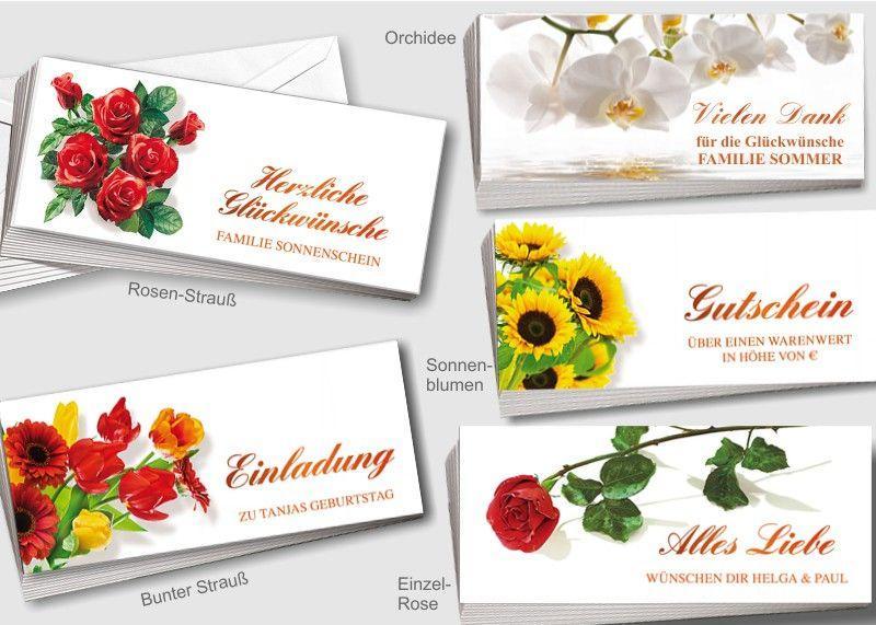 50 Blumen-Grußkarten