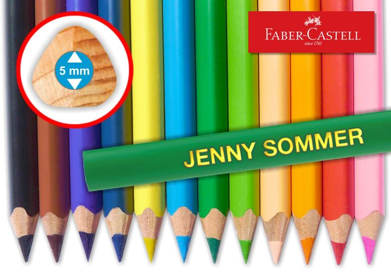 Jumbo-Stifte mit Namen 12 Bleistifte