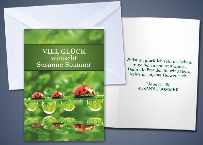 """20 Motiv-Klappkarten """"Marienkäfer"""""""