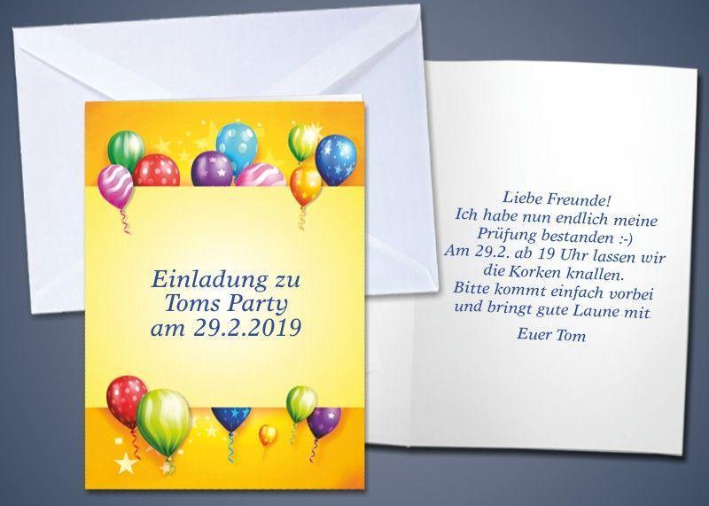 "20 Motiv-Klappkarten ""Ballons"""